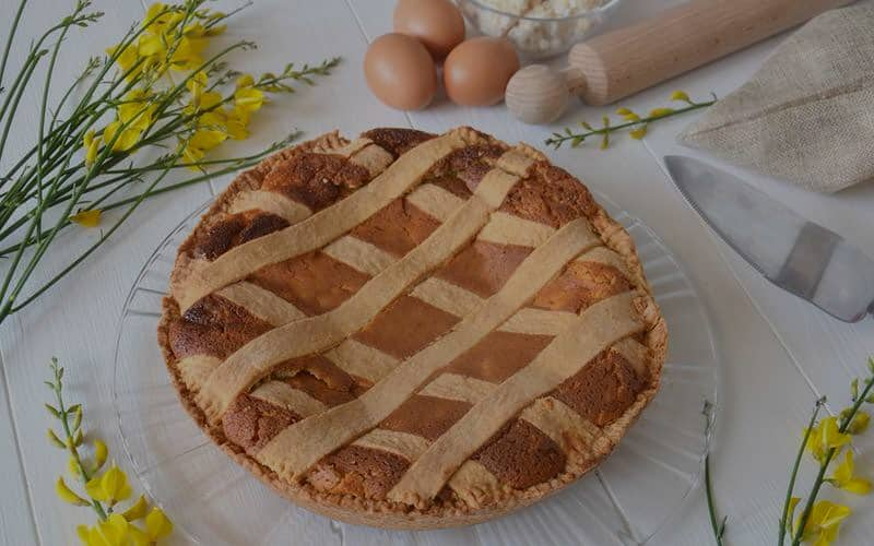 Pastiera with short crust pastry