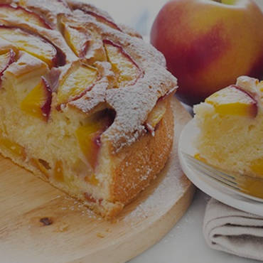 Peach cake with Olive Oil